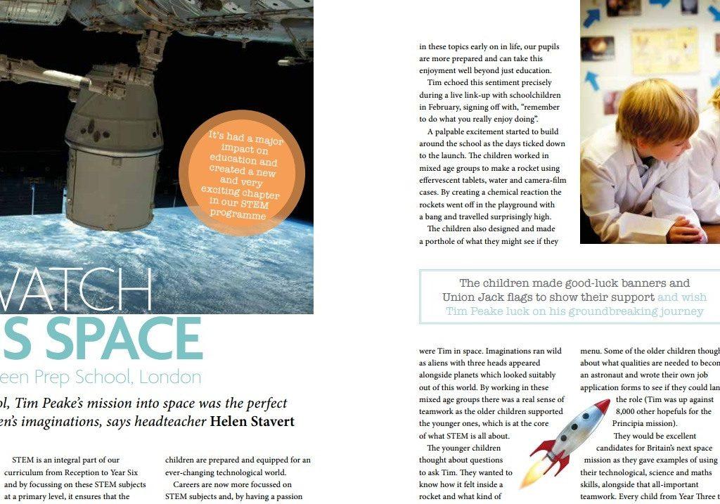 Independent-School-parent-magazine-Parsons-Green-Prep-School-Fulham-SW6-London-Tim-Peake-STEM-teaching-education