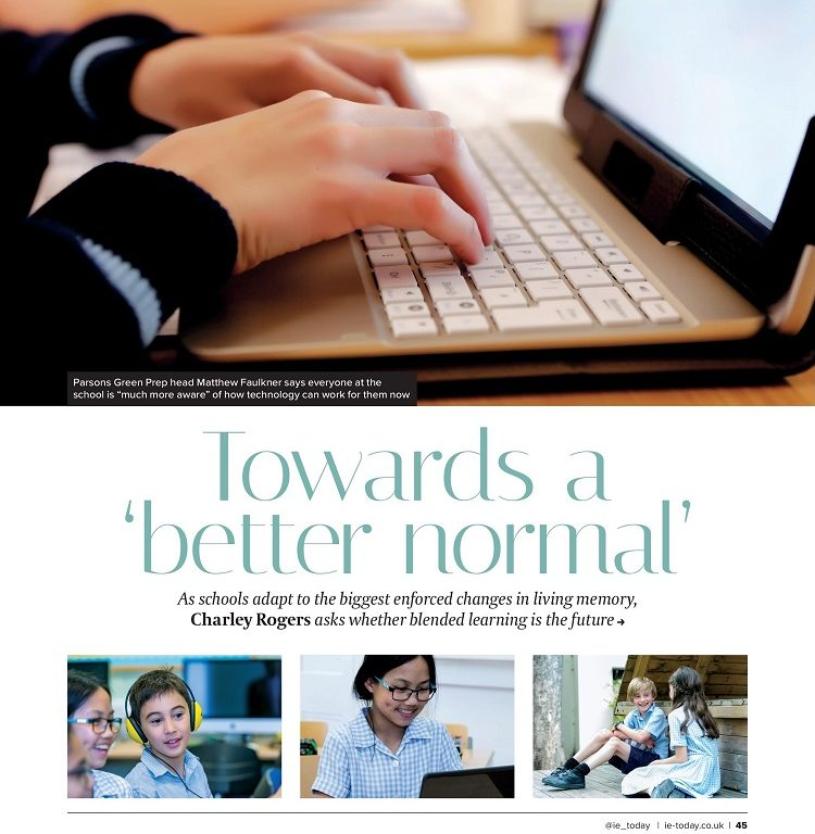 blended learning article cover