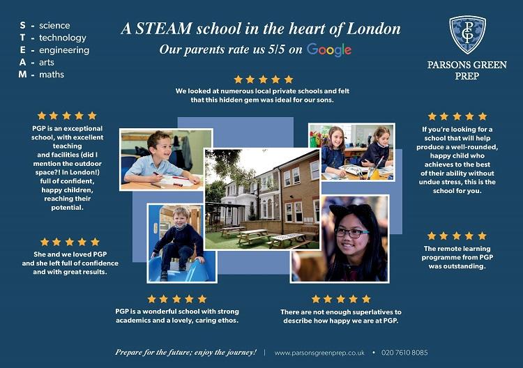 Parson Green Prep School STEAM school poster