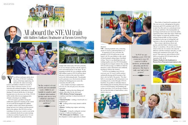 Magazine article Parsons Green Prep School STEAM