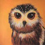 Parsons Green Prep School Owl painting