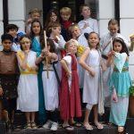 Children in greek costumes