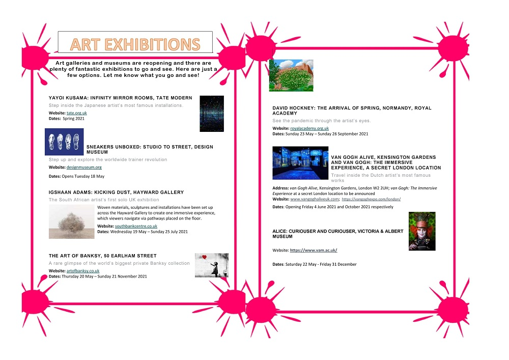 Parsons Green Prep School Art Exhibitions Poster